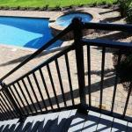 "Riviera C30 Railing 42"" x 4' Stair Section"